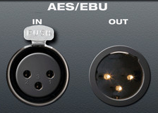 Figure 5.19 - AES/EBU connections using XLR connectors