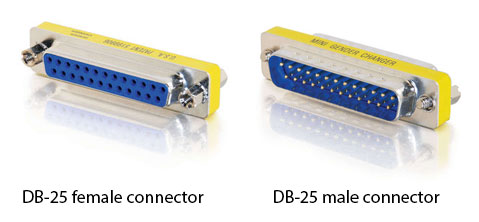 Figure 1.34 DB-25 connectors