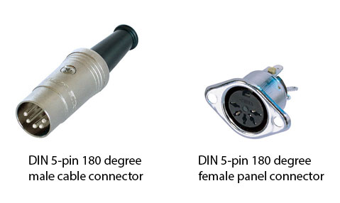 Figure 1.32 DIN connectors