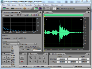 Figure 2.50 Choice of FFT window size in Adobe Audition