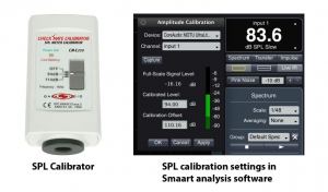 Figure 4.22 Analysis software needs to be calibrated for SPL