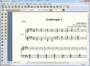 Figure 1.53 Finale, a music composing and notation software environment
