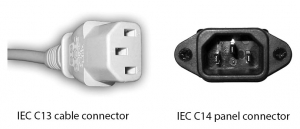 Figure 1.39 IEC connectors