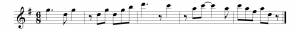 Figure 3.18 Example of music with rests