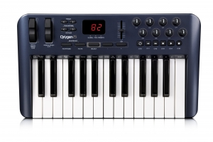 Figure 1.5 M-Audio Oxygen25 25-key MIDI keyboard controller