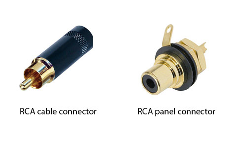 Figure 1.31 RCA connectors