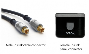 Figure 1.38 Toslink connectors