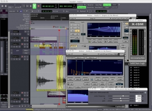 Figure 1.54 Ardour, free digital audio processing software for the Linux or OS X operating systems