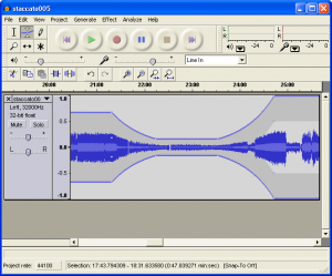 Figure 1.51 Audacity audio editing software