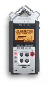 Figure 1.7 Zoom H4n small portable audio recorder with built-in microphones